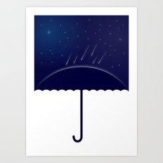 It's raining stars (2014) Art Print