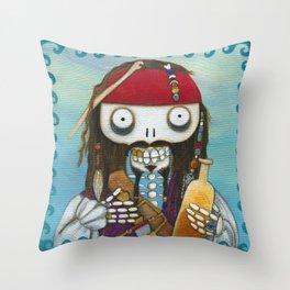 Captain Jacque Throw Pillow