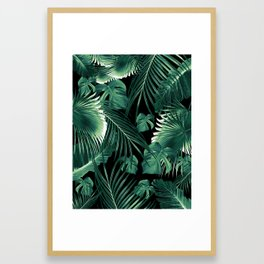 Tropical Jungle Leaves Dream #6 #tropical #decor #art #society6 Framed Art Print