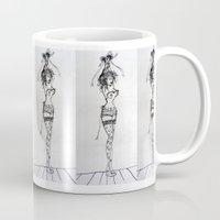 burlesque Mugs featuring Burlesque by Frances Roughton