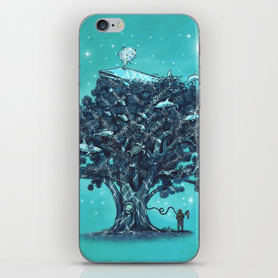 Deep Tree Diving  iPhone & iPod Skin