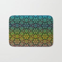 colored thread Bath Mat