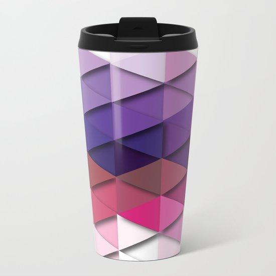 Purple Vs. White Metal Travel Mug