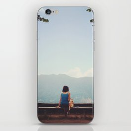 Girl and dog  iPhone Skin