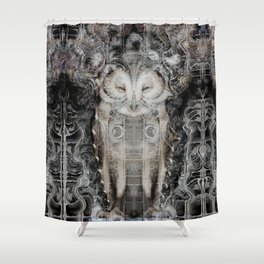 Owl Wisdom Shower Curtain