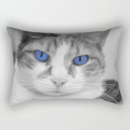 Cat with Blue Eyes Rectangular Pillow