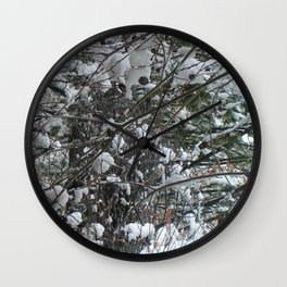 Snow Wishes Wall Clock