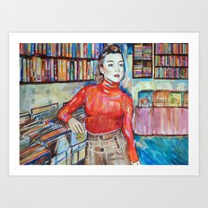 Russian Red, Singer, painting, illustration, art pop Art Print