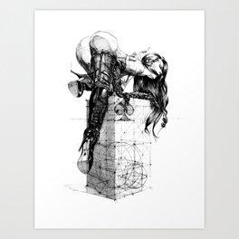 Over knees Art Print