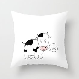 SOLD! Scary Cow - Inspired by a True Incident! Throw Pillow
