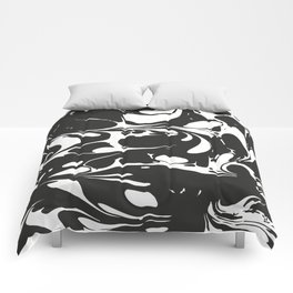 Black and White Marble Surface Design Comforters