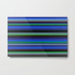 Colored Lines - Blue Metal Print