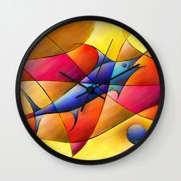 Perissia - colourful fossil Wall Clock