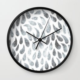 Abstract Raindrops Wall Clock