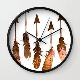 405 Rustic Boho Arrows Wall Clock