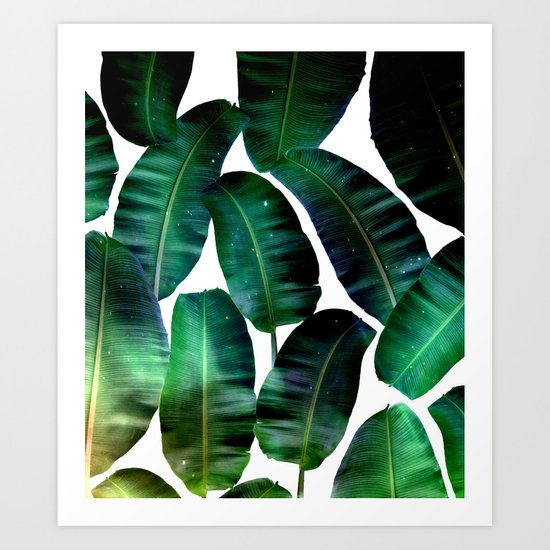 Cosmic Banana Leaves #society6 #decor #buyart Art Print