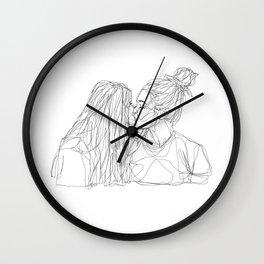 Girls kiss too Wall Clock