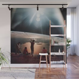Golfers In Space Wall Mural