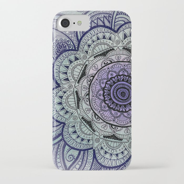 Mandala Violet iPhone Case