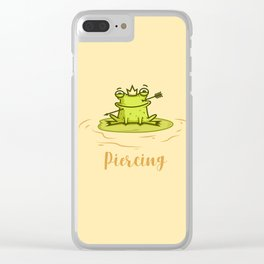 Piercing (Concept Funny Illustration) Clear iPhone Case
