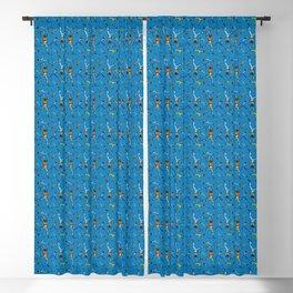 Upside down pattern (in blue) Blackout Curtain