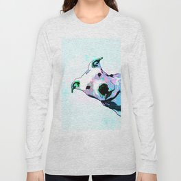 Pit bull - Puzzled - Pop Art Long Sleeve T-shirt