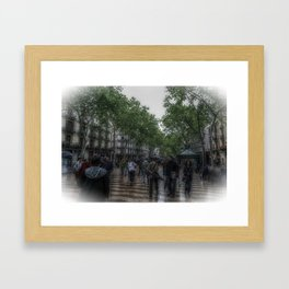 La Rambla Artistic Framed Art Print