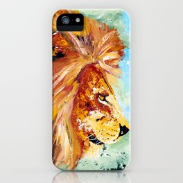 The Lion and the Rat - Animal - by LiliFlore iPhone Case