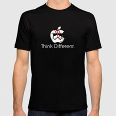 Think Different. Mens Fitted Tee Black MEDIUM