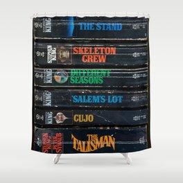 Stephen King Well-Worn Paperbacks Shower Curtain