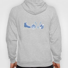 Love Skating Ice Skater Skating Snow Winter Season Ice-Skate Gift Hoody