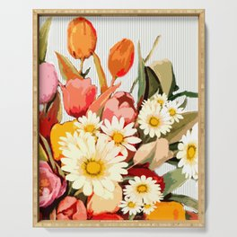 Tulip Bouquet Serving Tray