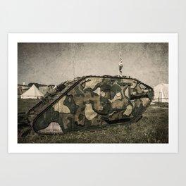 Mk 1 Tank  Art Print