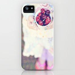 Sweet Cherry Girl iPhone Case