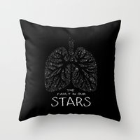 fault in our stars Throw Pillows featuring The Fault in Our Stars by Call me Calliope