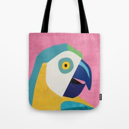 Tropical Home Decor Parrot Art Print Tote Bag