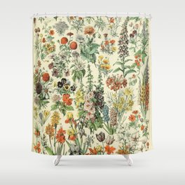 Adolphe Millot Vintage Fleurs Flower 1909 Shower Curtain