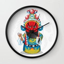 Beijing Opera Character GuanYu Wall Clock