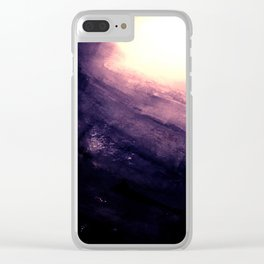 Monolithic - textured rock Clear iPhone Case