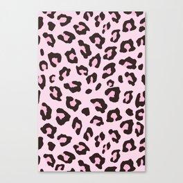 Leopard Print - Pink Chocolate Canvas Print