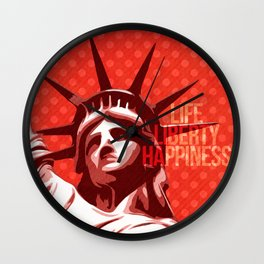 Statue of Liberty - Pop Art Wall Clock