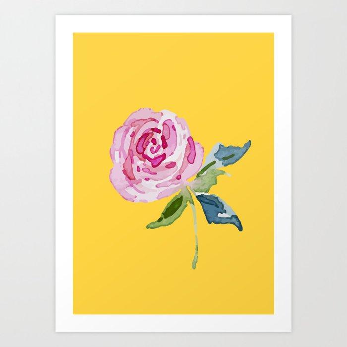 Watercolor Rose Kunstdrucke