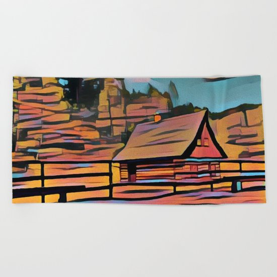 Country House Beach Towel