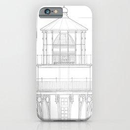 Vintage Bodie Island Lighthouse Blueprint iPhone Case