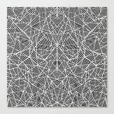 Abstract Lace on Black Canvas Print