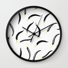 black chili peppers Wall Clock