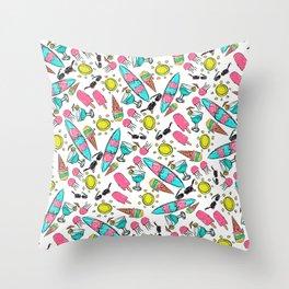 Beach Summer Pattern Throw Pillow