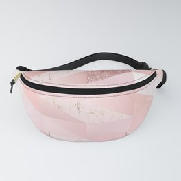 Modern Blush Pink Geo Print Fanny Pack