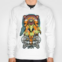 samus Hoodies featuring Samus by Brandon C. Bader