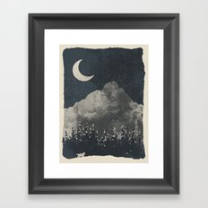 Winter Finds the Wolf... Framed Art Print